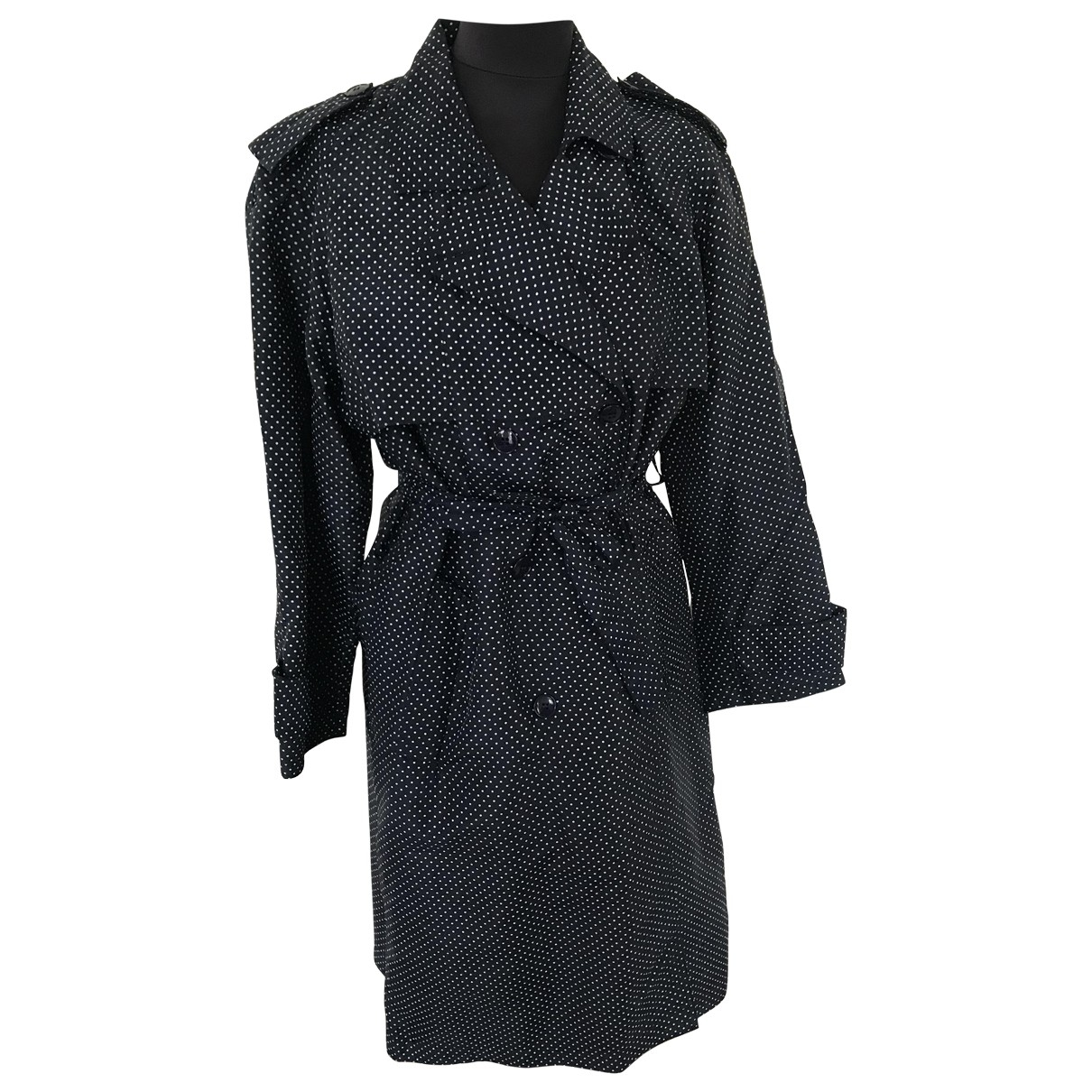 Non Signé / Unsigned \N Blue Trench coat for Women 38 FR