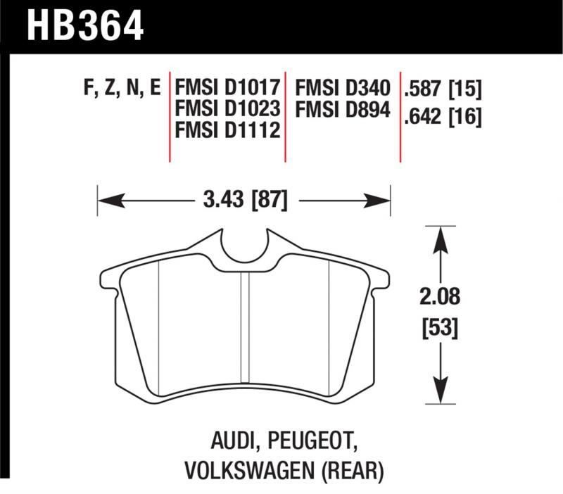 Hawk Performance HB364Z.642 Disc Brake Pad Rear