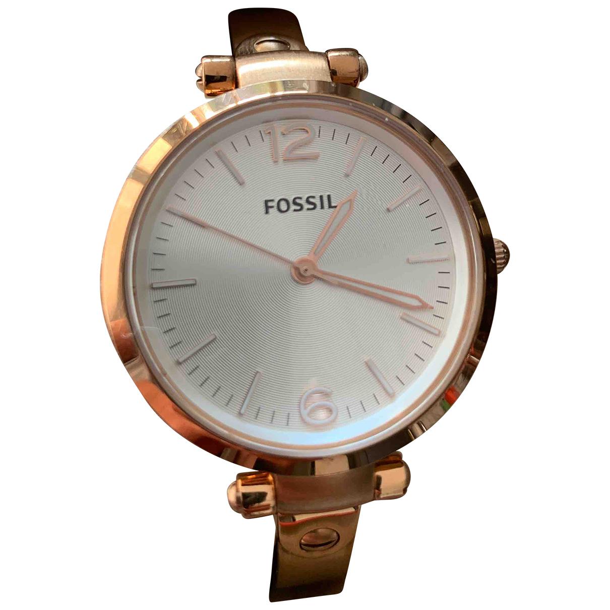 Fossil - Montre   pour femme en acier - rose
