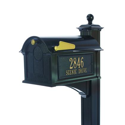 16252 Aluminum Balmoral Mailbox Side Plaques  Post Package in
