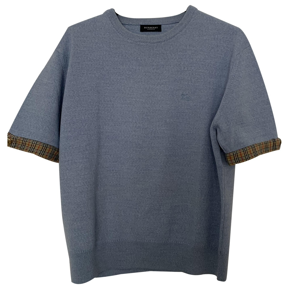 Burberry \N Pullover in  Blau Wolle