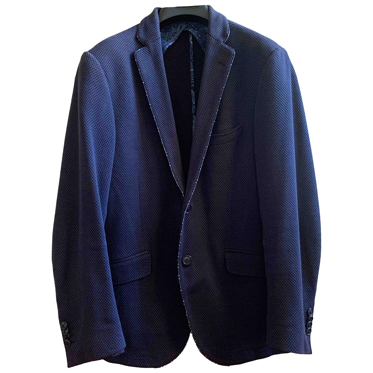 Etro \N Jacke in  Blau Baumwolle
