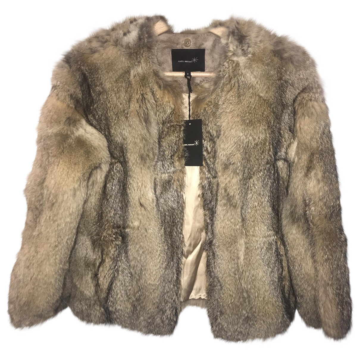 Isabel Marant Etoile - Manteau   pour femme en renard - beige