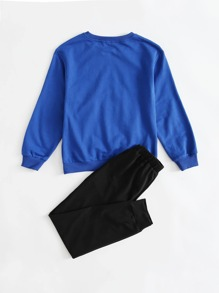 Pullover & Jogginghose Set mit Buchstaben Grafik
