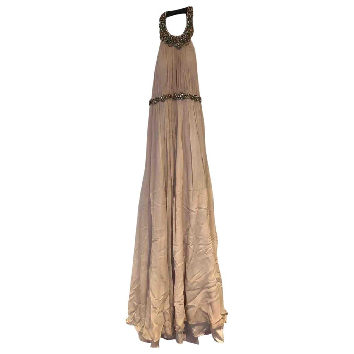 Marchesa Notte \N Kleid in  Beige Seide