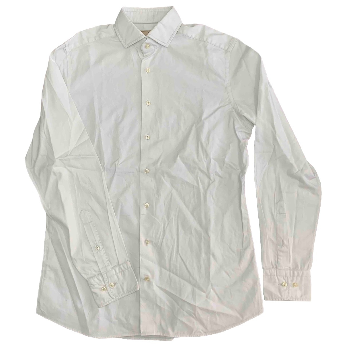Non Signé / Unsigned \N White Cotton Shirts for Men M International