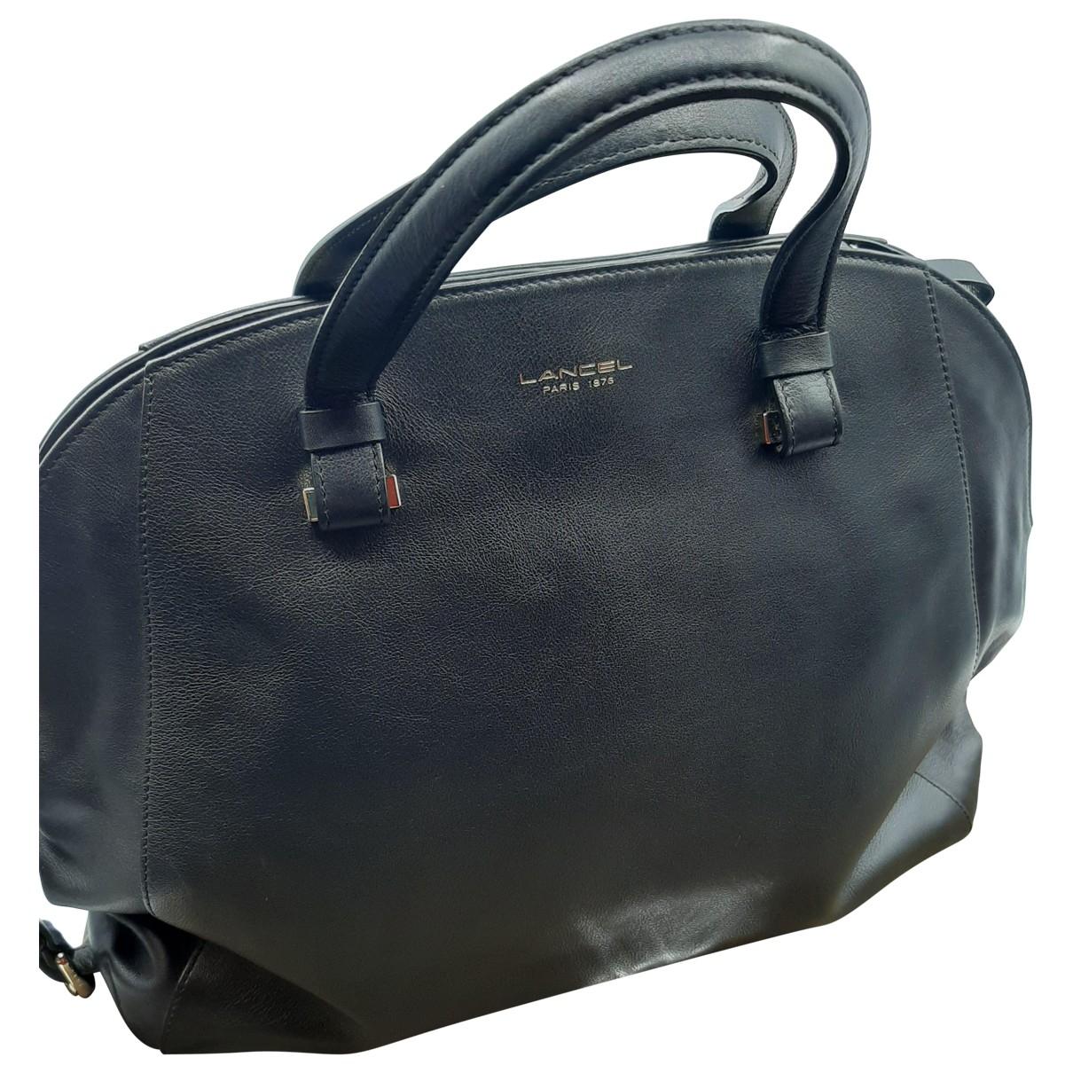 Lancel Solferino Black Leather handbag for Women \N