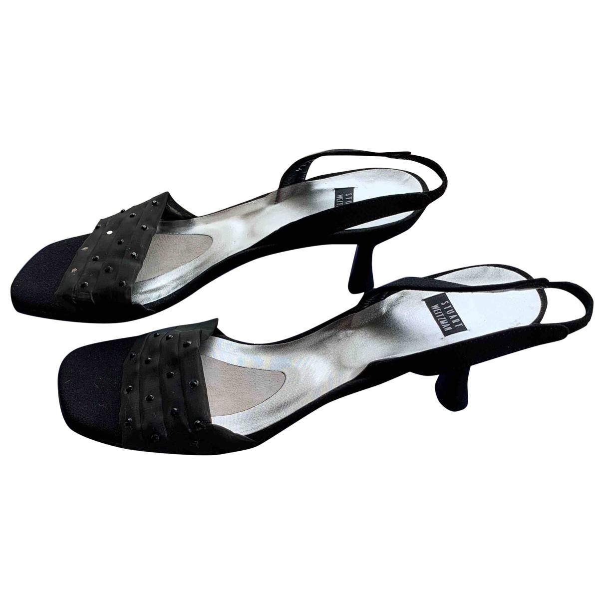 Stuart Weitzman \N Black Cloth Sandals for Women 36.5 EU