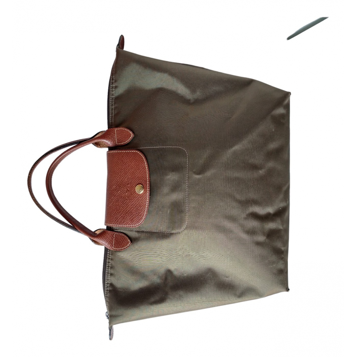 Longchamp Pliage  Handtasche in  Khaki Synthetik