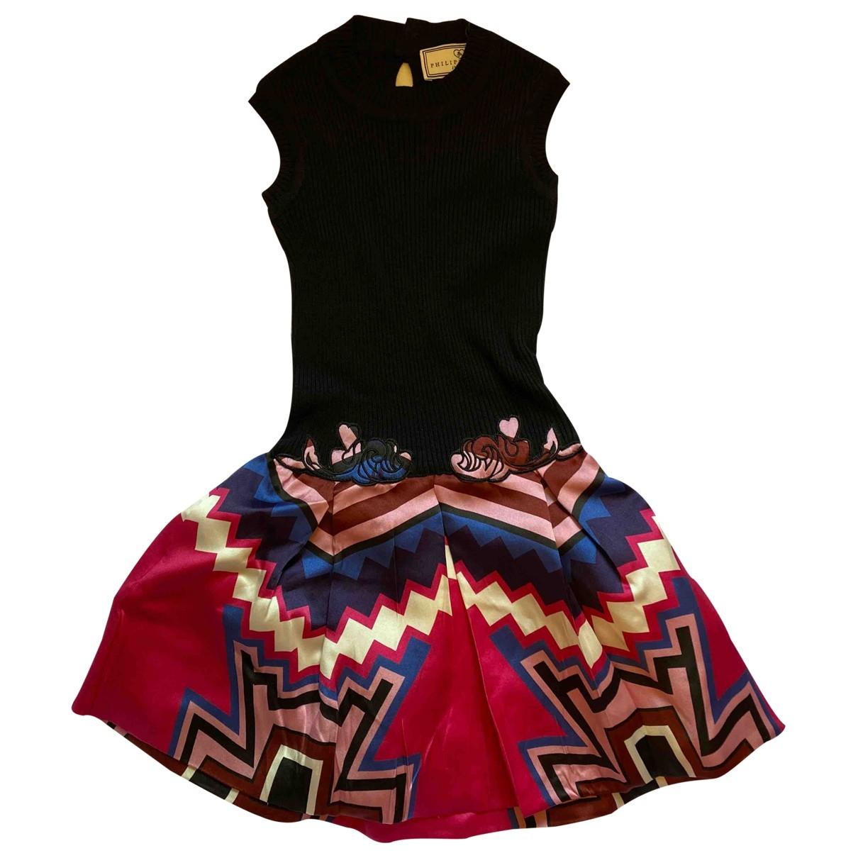 Philipp Plein \N Multicolour Cotton dress for Women 000 0-5