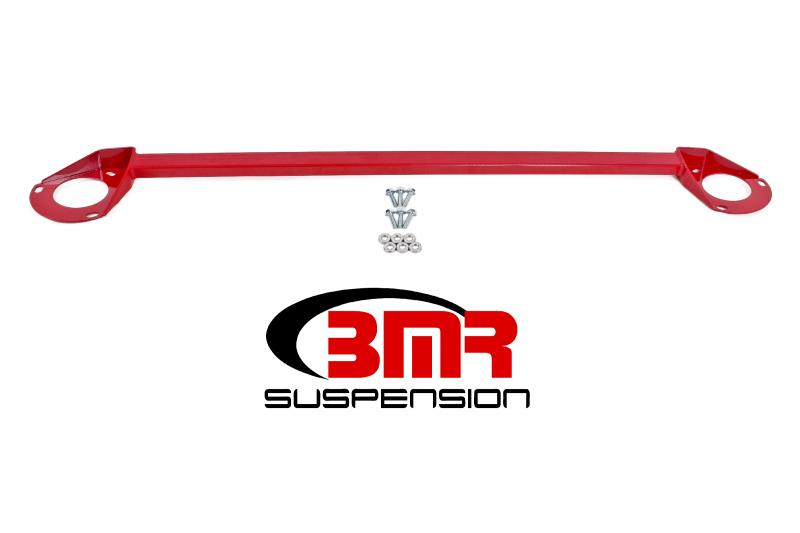 BMR Suspension STB018R Strut Tower Brace Front V8 Only Red Chevrolet Camaro 16-17