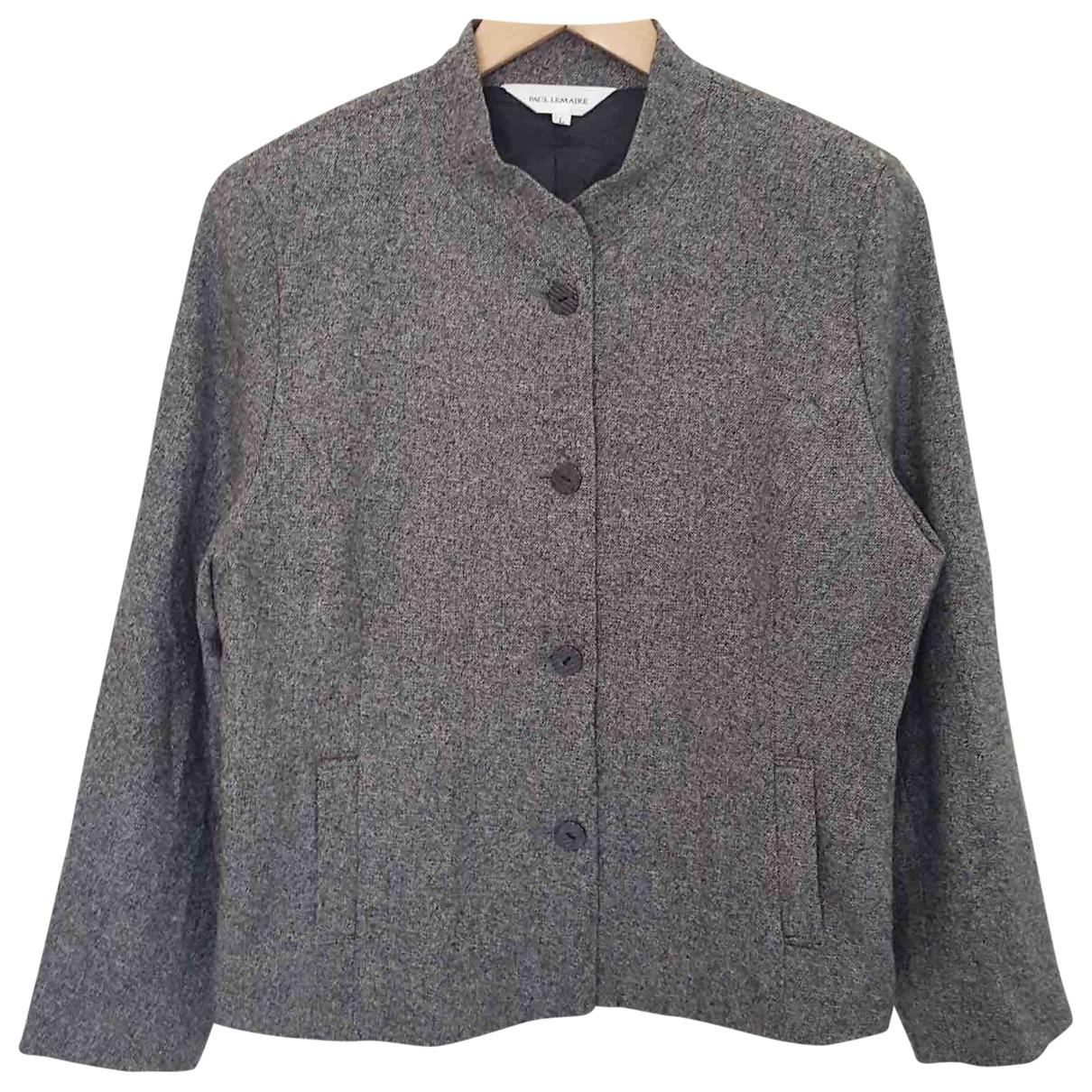 Lemaire \N Jacke in  Grau Wolle