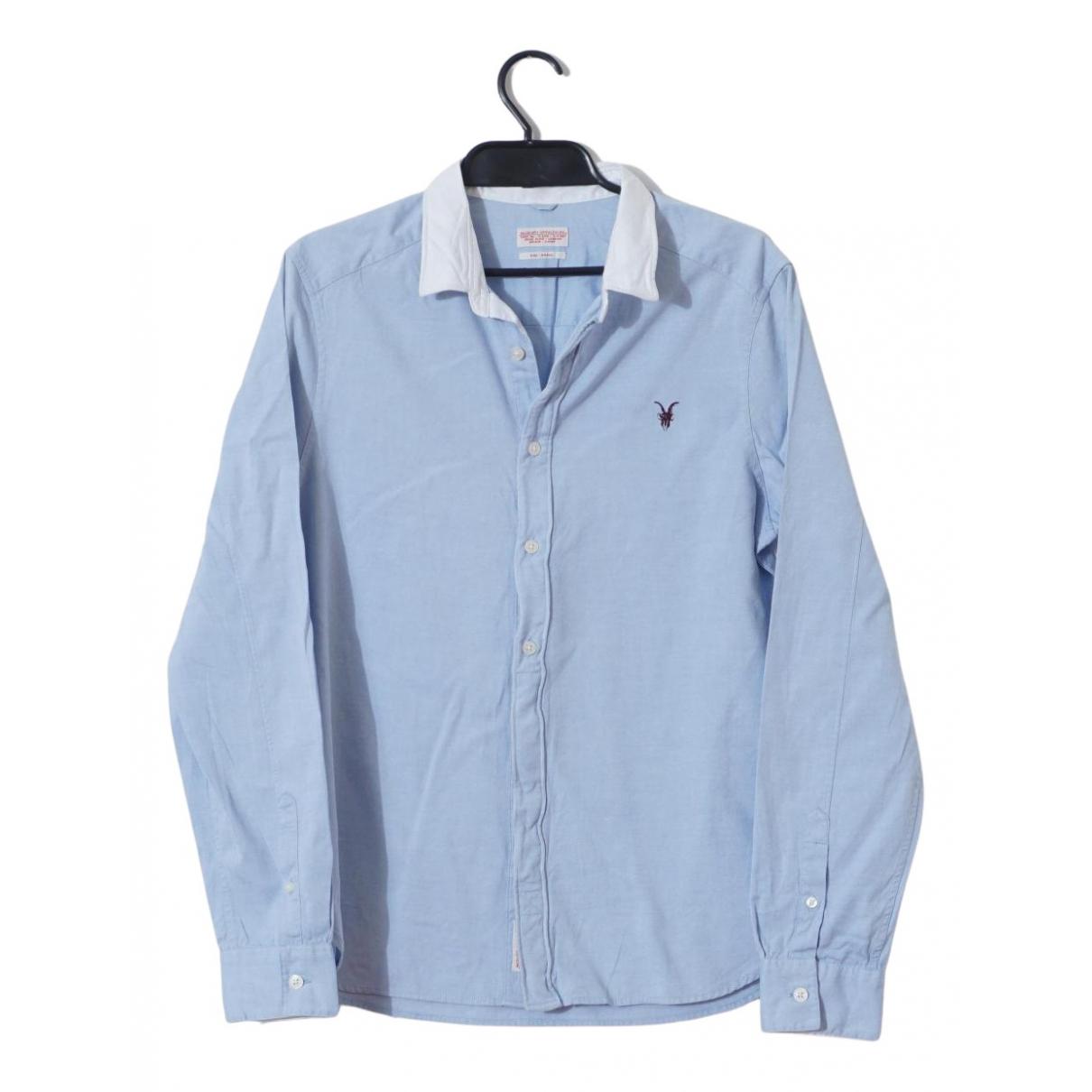 All Saints - Chemises   pour homme en coton - bleu