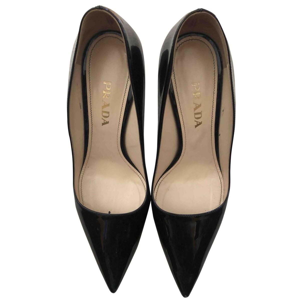Prada \N Black Patent leather Heels for Women 38 EU