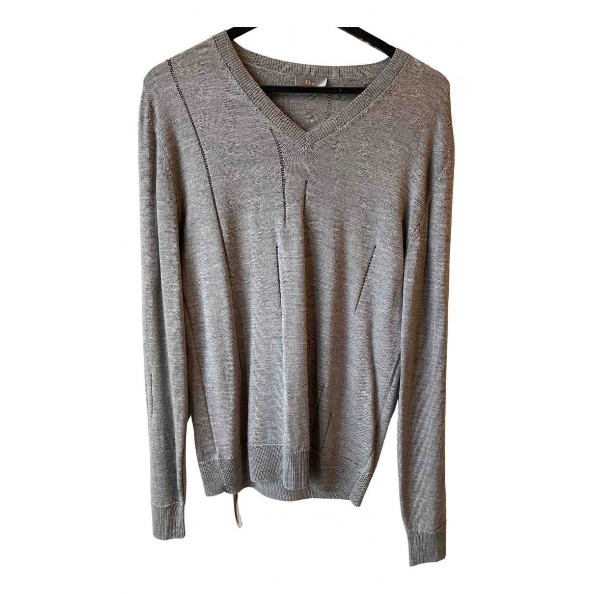 Dior Homme \N Pullover.Westen.Sweatshirts  in  Grau Wolle