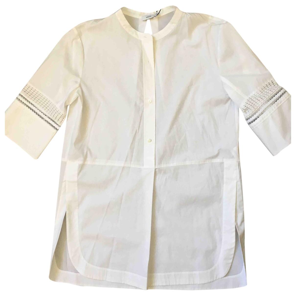 Vince - Top   pour femme en coton - blanc