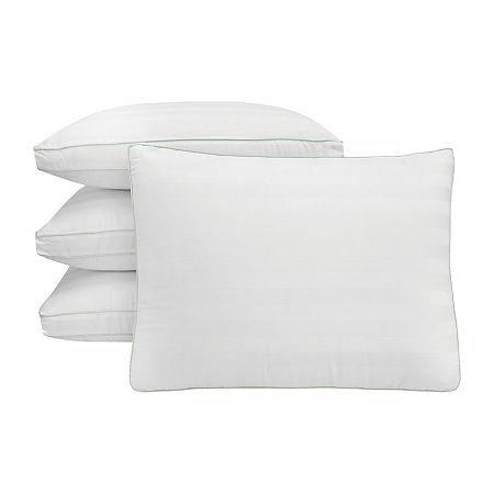 SensorPEDIC 300TC Plush Fiber Fill Gusseted 4-Pack Pillow, One Size , White