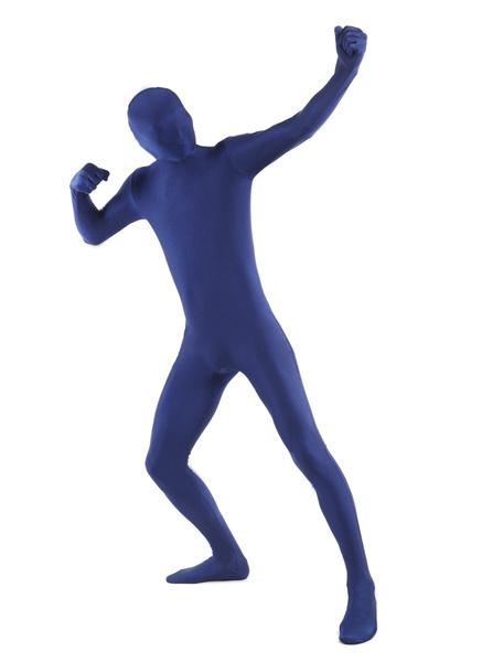 Milanoo Morph Suit Navy Blue Lycra Spandex Fabric Zentai Suit Unisex Full Body Suit