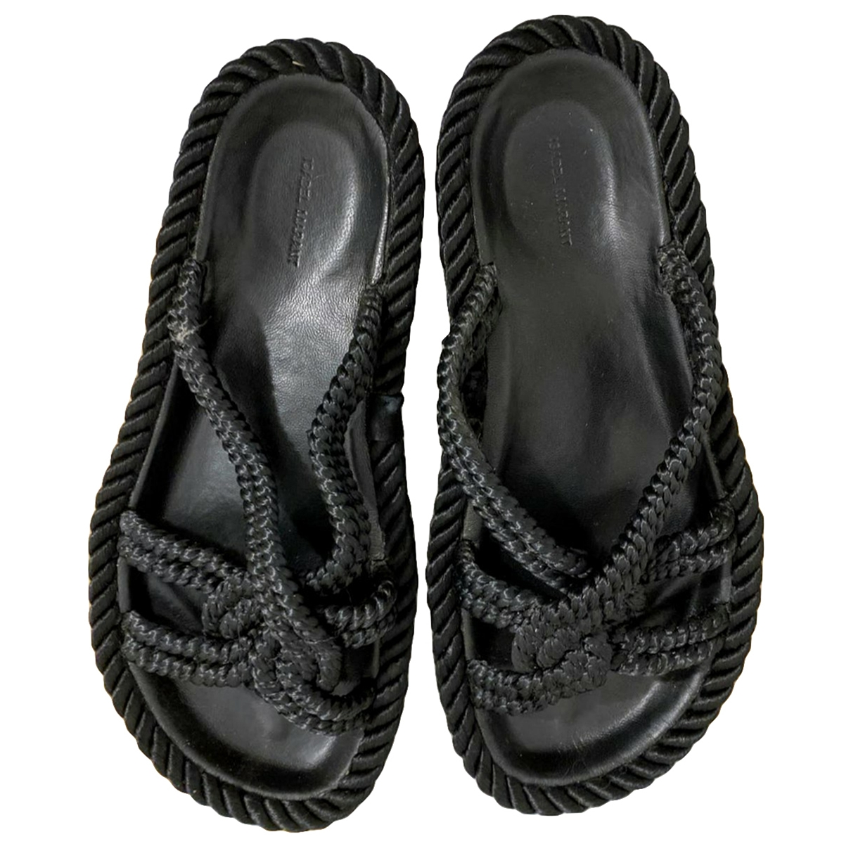 Isabel Marant \N Black Cloth Sandals for Women 37 EU