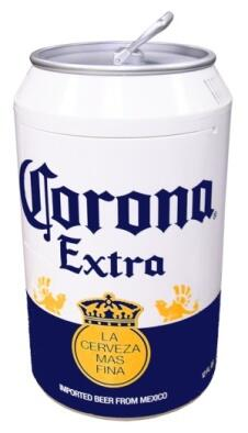 COR12 Corona Can Cooler with One sliding Removable Shelf and   Self-locking Recessed Door