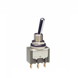 NKK Switches SPDT Toggle Switch, On-None-Off, IP67, Panel Mount