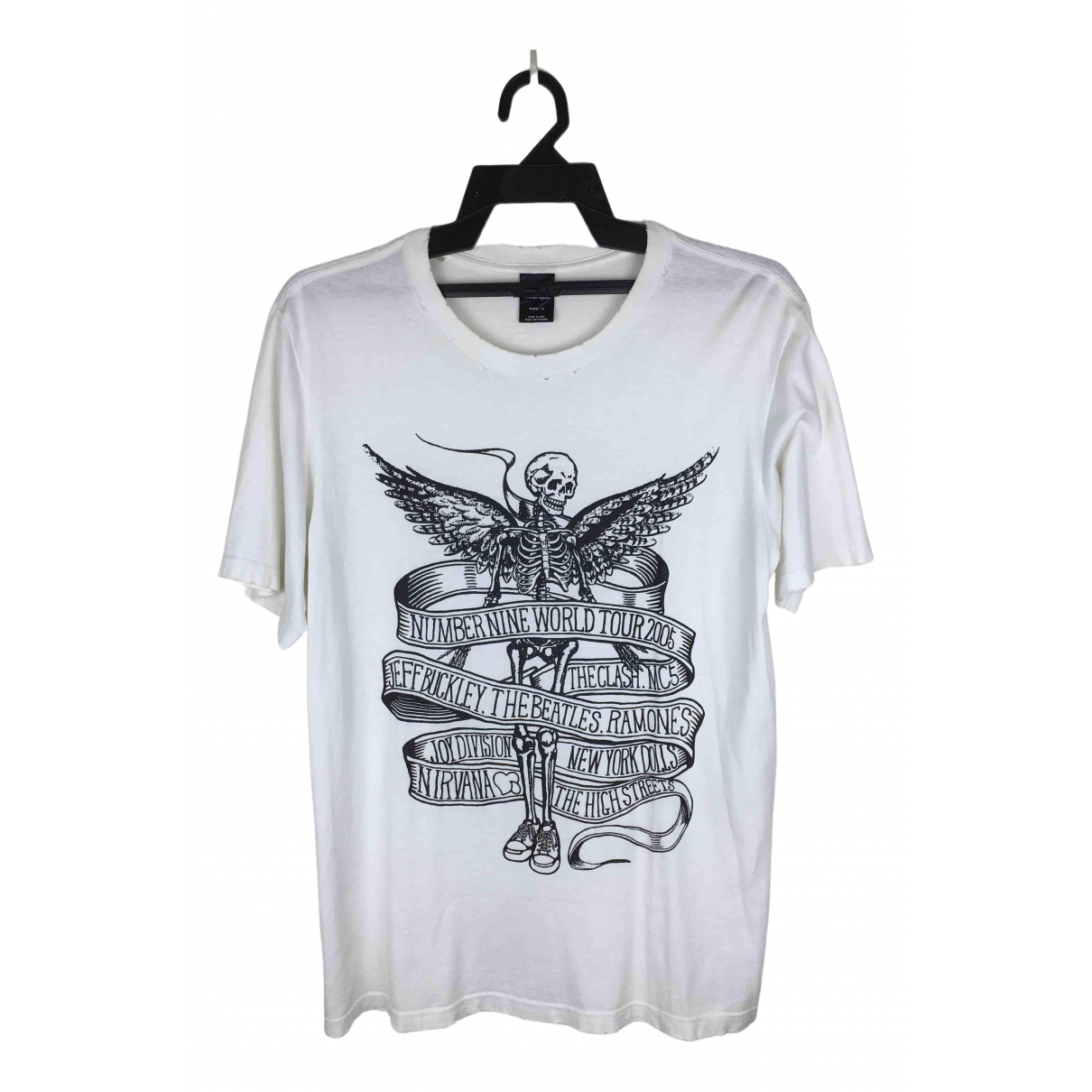 Number Nine - Takahiro Miyashita - Tee shirts   pour homme en coton - blanc
