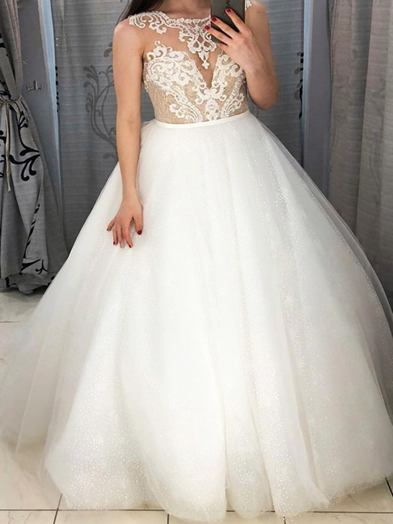 Ericdress Lace Ball Gown Wedding Dress 2020
