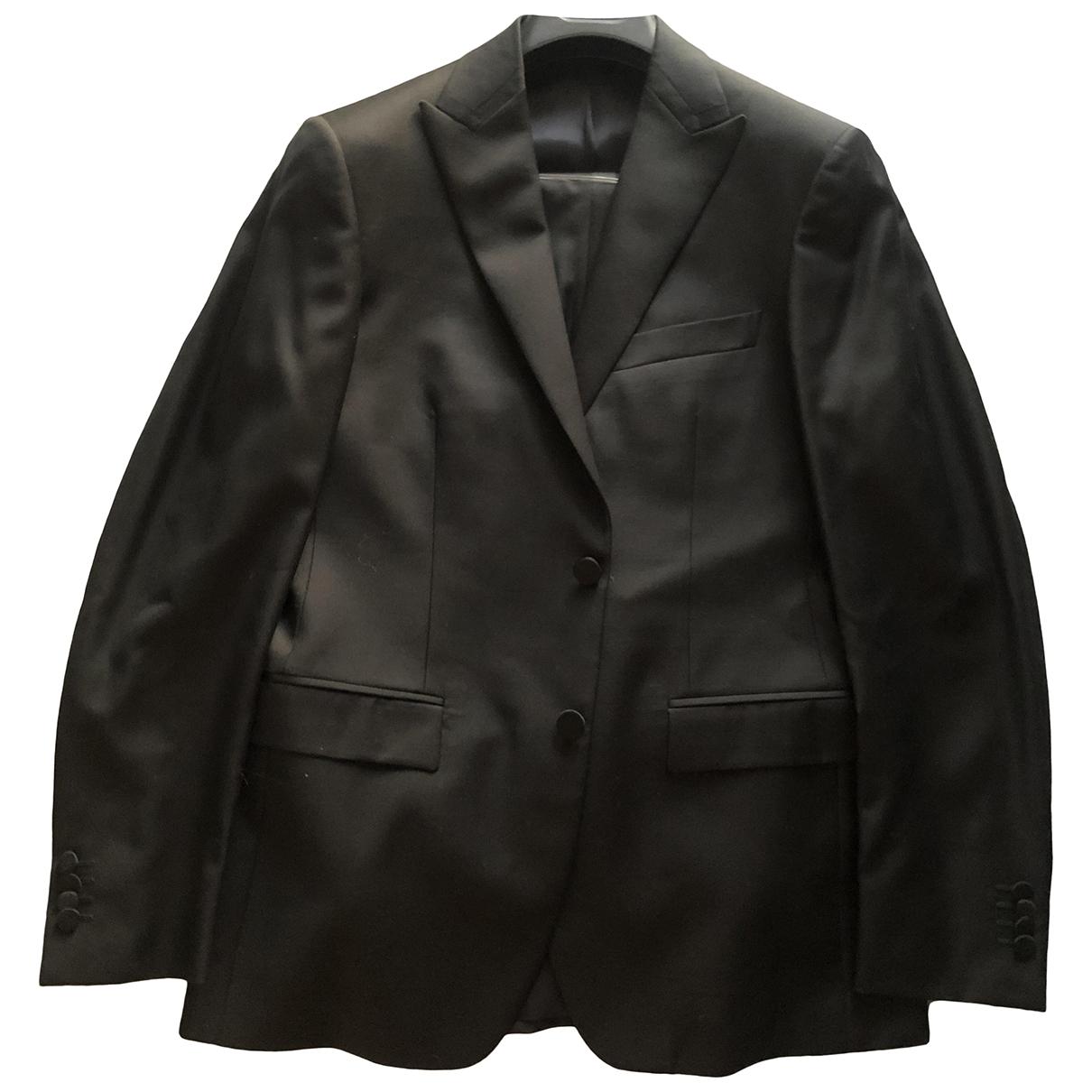 Versace \N Black Wool Suits for Men 50 FR