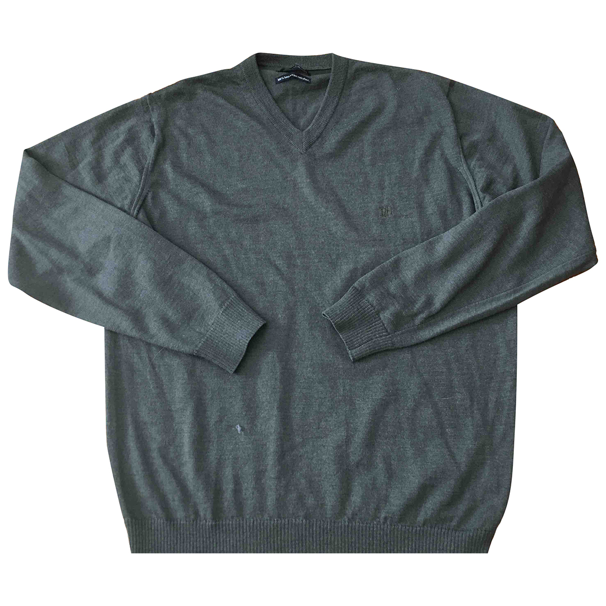 Pedro Del Hierro \N Pullover.Westen.Sweatshirts  in  Khaki Wolle