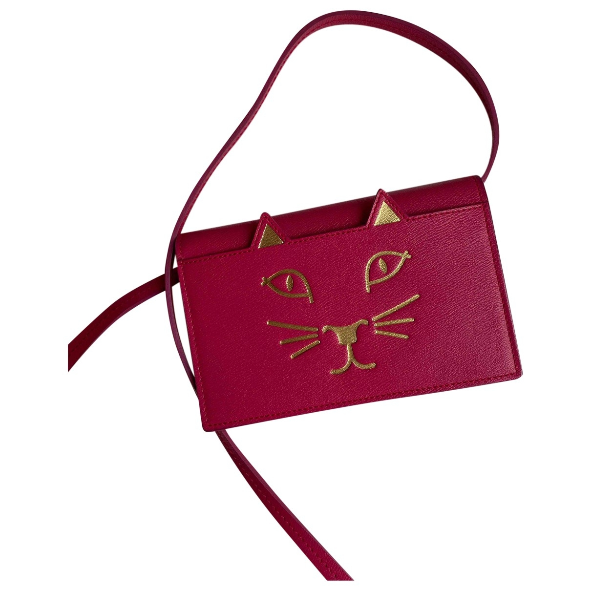 Charlotte Olympia - Sac a main   pour femme en cuir - rose