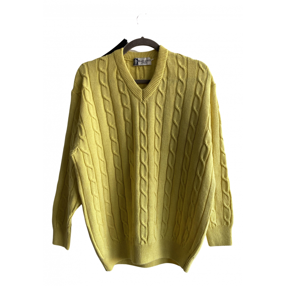 Autre Marque N Yellow Cotton Knitwear for Women One Size IT