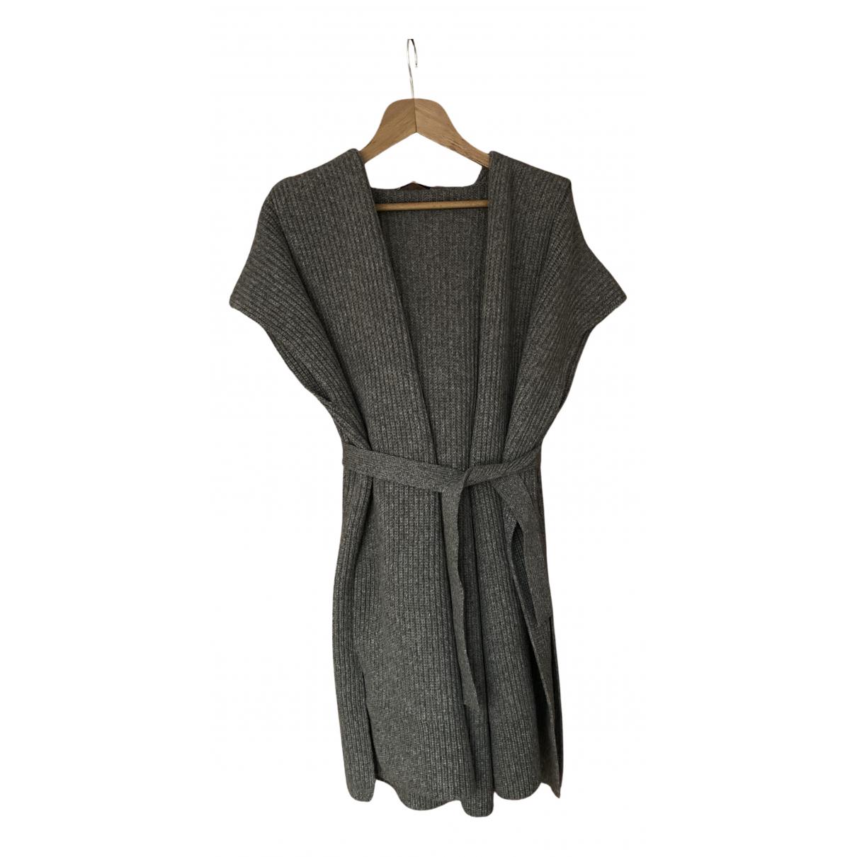 Agnona - Pull   pour femme en fourrure - gris