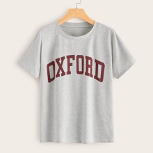 Letter Graphic Grey Tee