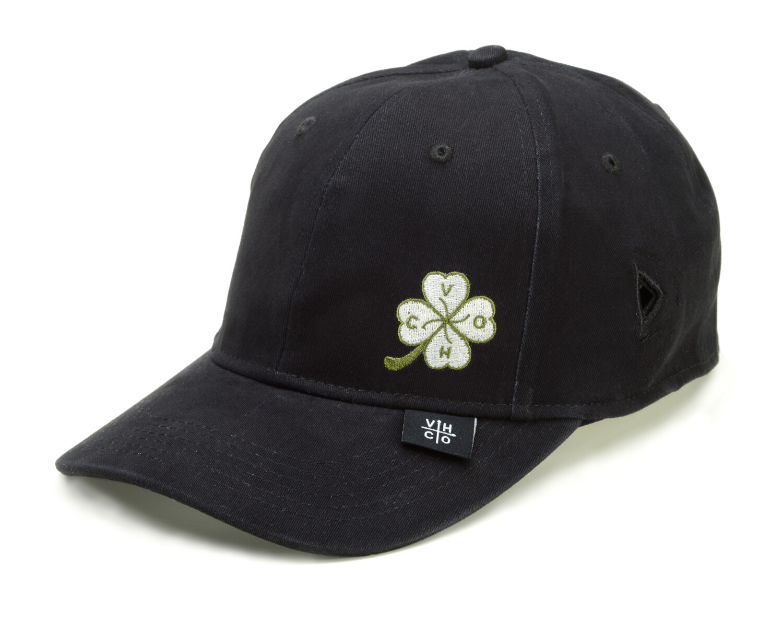 Trucker Hat Cotton Twill, Contrast Stitching, Sunglasses Keeper - S/M - Black