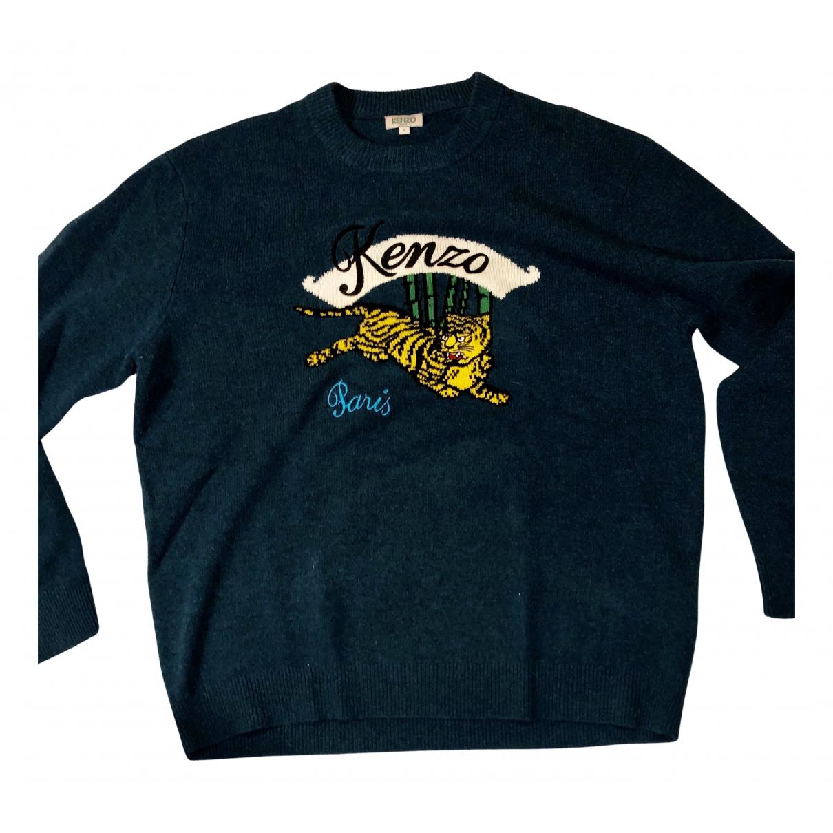 Kenzo \N Pullover.Westen.Sweatshirts  in  Gruen Wolle