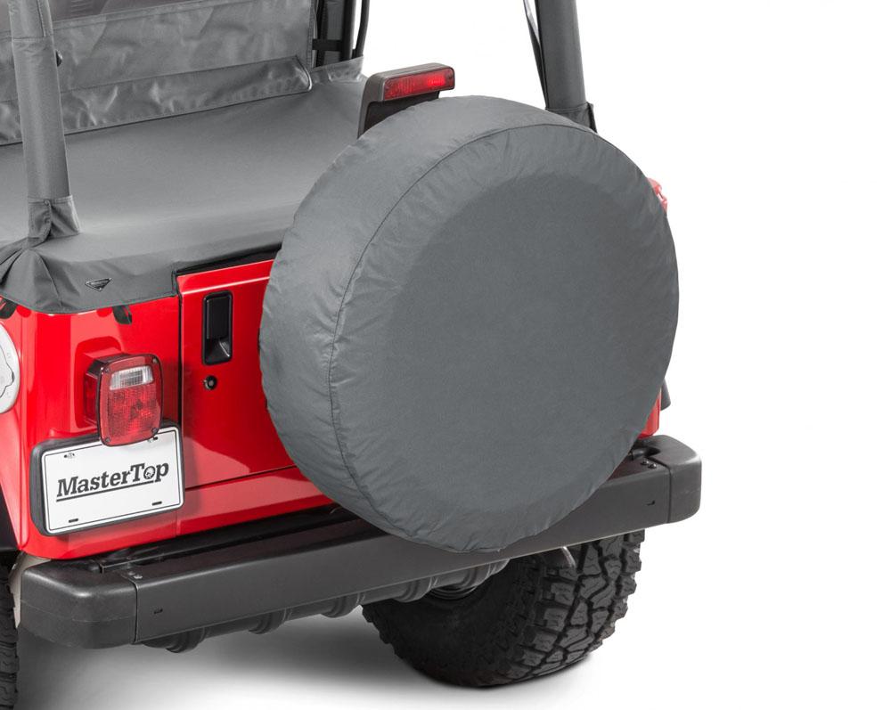 MasterTop 14603035 Jeep Spare Tire Cover 30 Inch Black Diamond