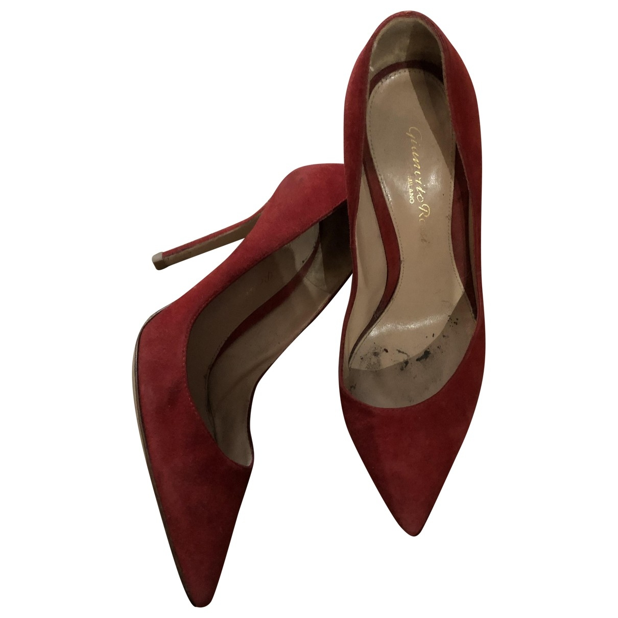 Gianvito Rossi Gianvito Red Suede Heels for Women 36 EU