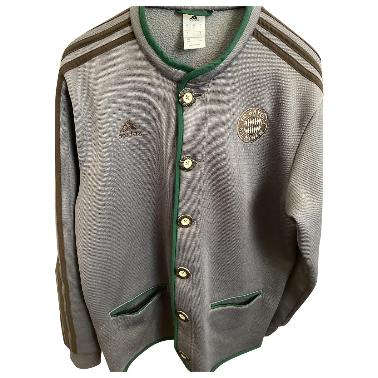 Adidas \N Jacke in  Grau Baumwolle
