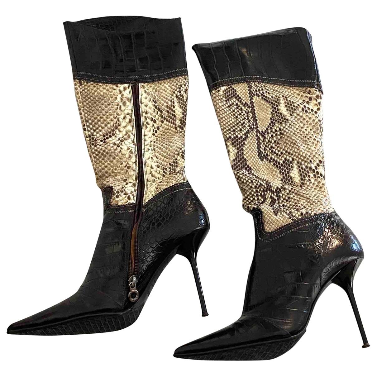 Le Silla - Bottes   pour femme en cuir - marron