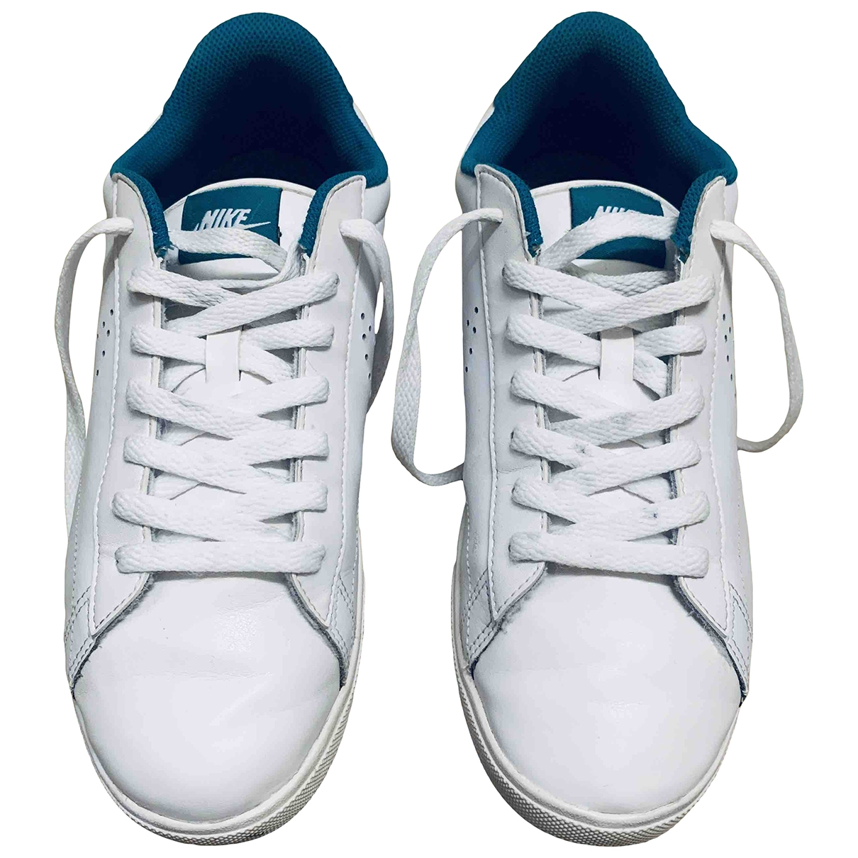 Nike \N White Patent leather Trainers for Women 40.5 EU