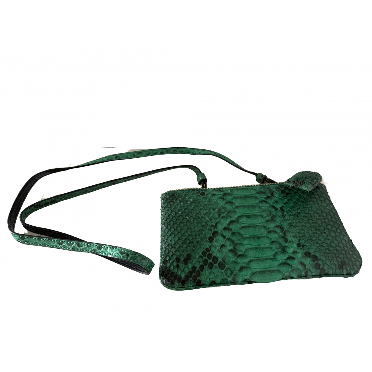Ximena Kavalekas \N Green Python Clutch bag for Women \N