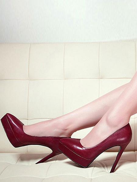 Milanoo Zapatos de tacon alto para mujer Zapatos de tacon alto sin cordones con punta puntiaguda Zapatos de talla grande basicos