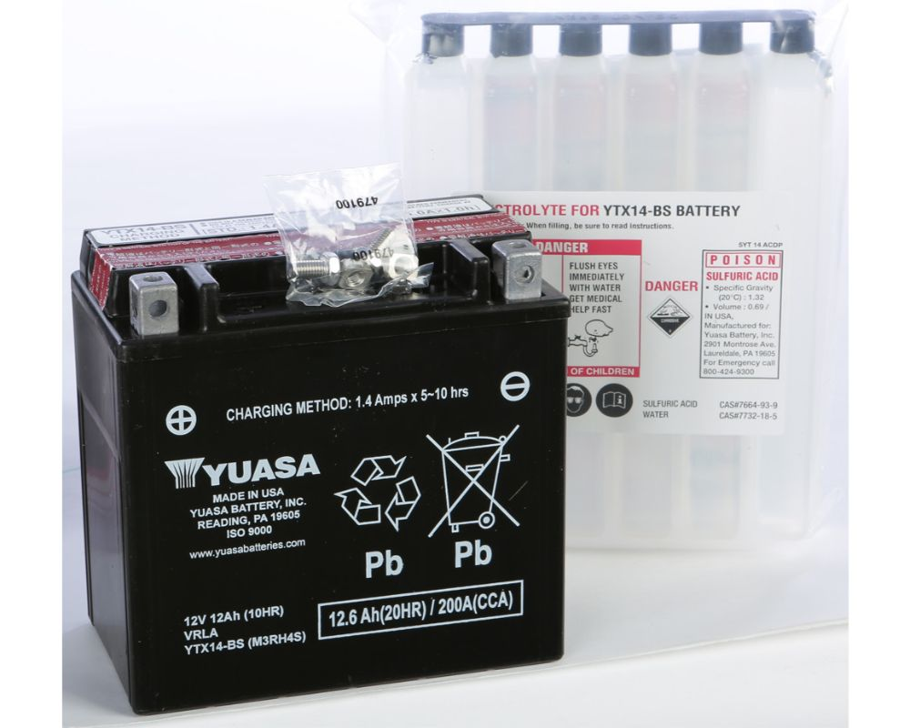 Yuasa YUAM3RH4S (PLT-144) Maintenance Free YTX14-BS Battery