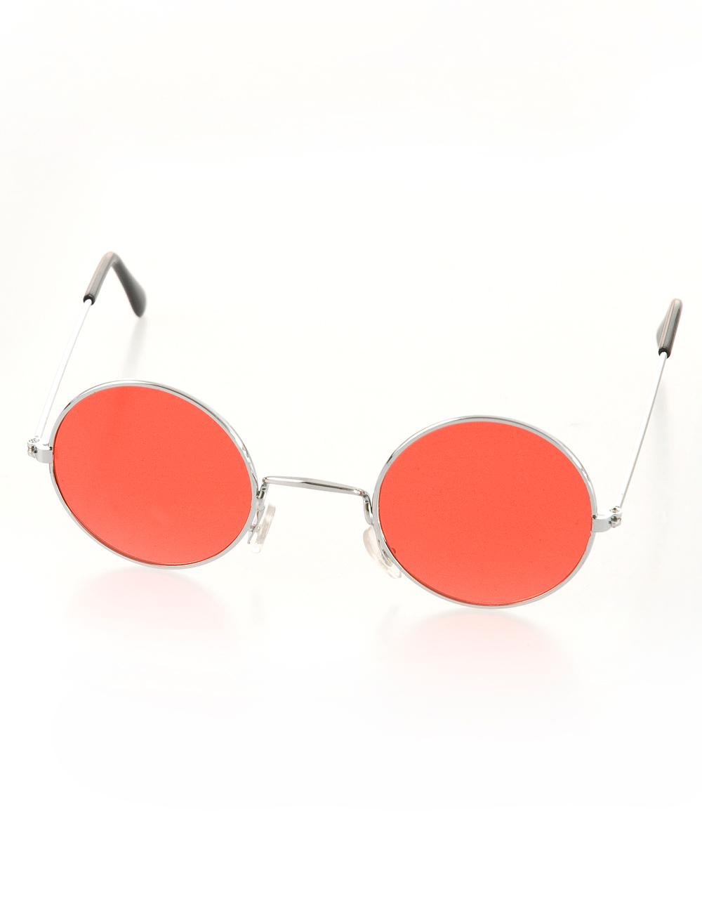 Kostuemzubehor Brille rund rot