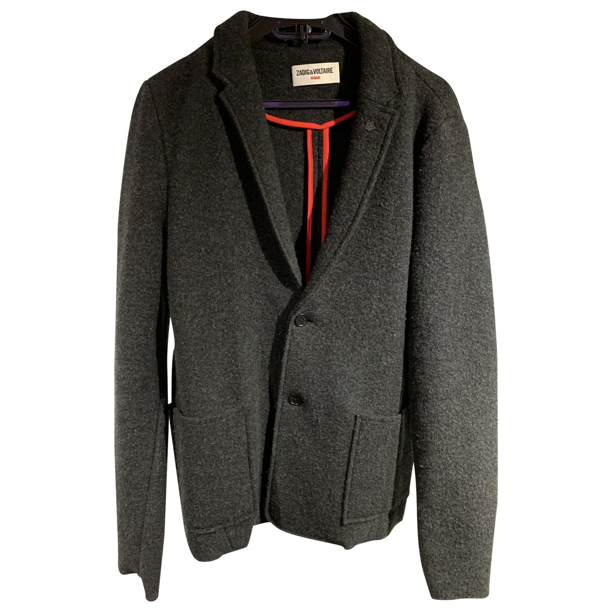 Zadig & Voltaire - Vestes.Blousons   pour homme en laine - gris