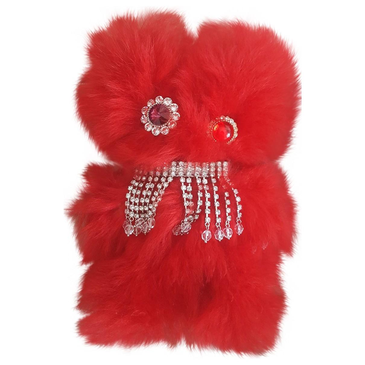 Miu Miu - Bijoux de sac   pour femme en mouton - rouge