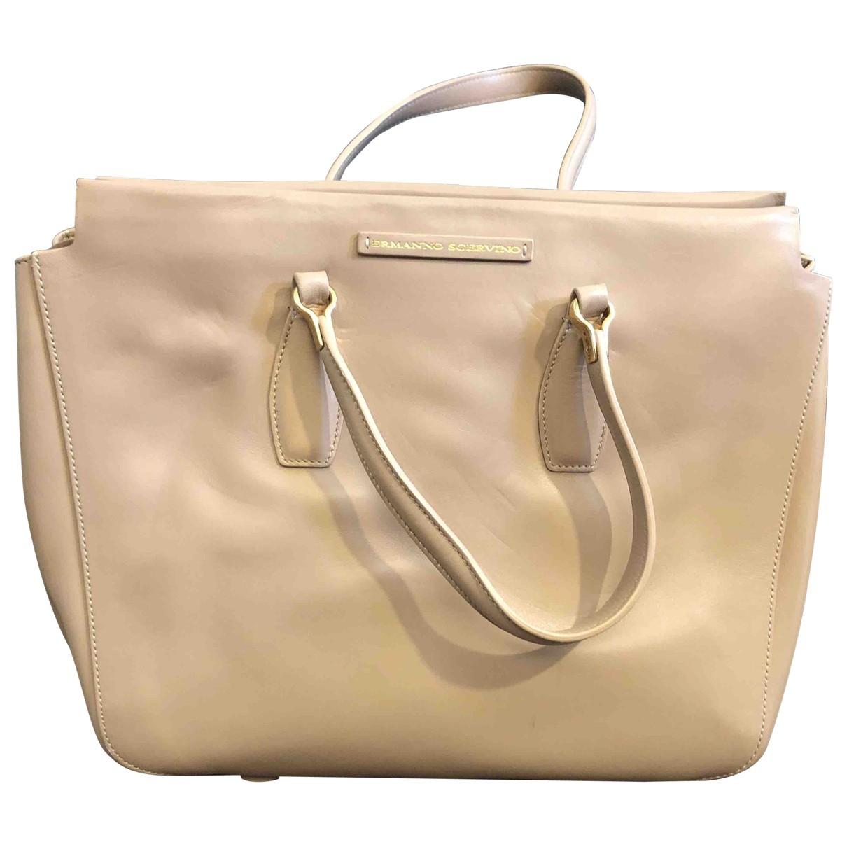 Ermanno Scervino \N Beige Leather handbag for Women \N