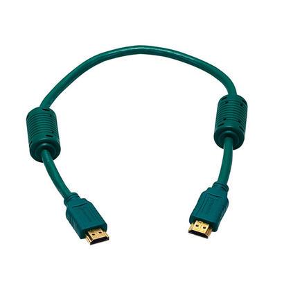 Câble HDMI® haute vitesse 28AWG avec noyaux de ferrite – (8 couleurs disponibles) – 1.5pi - Vert