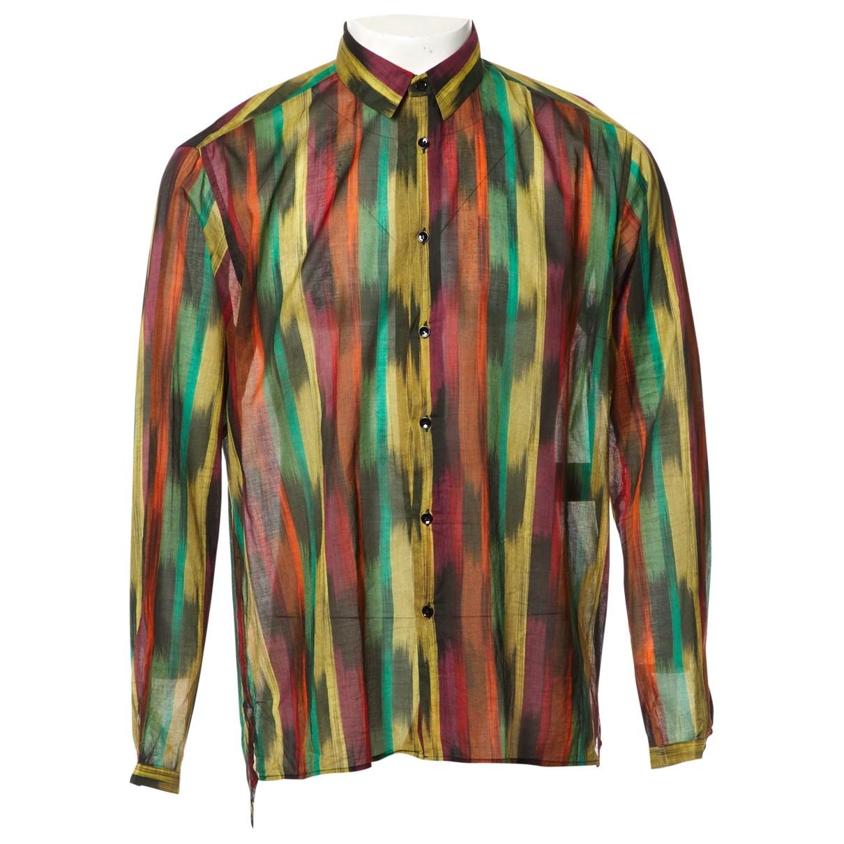 Saint Laurent \N Multicolour Cotton Shirts for Men 42 EU (tour de cou / collar)