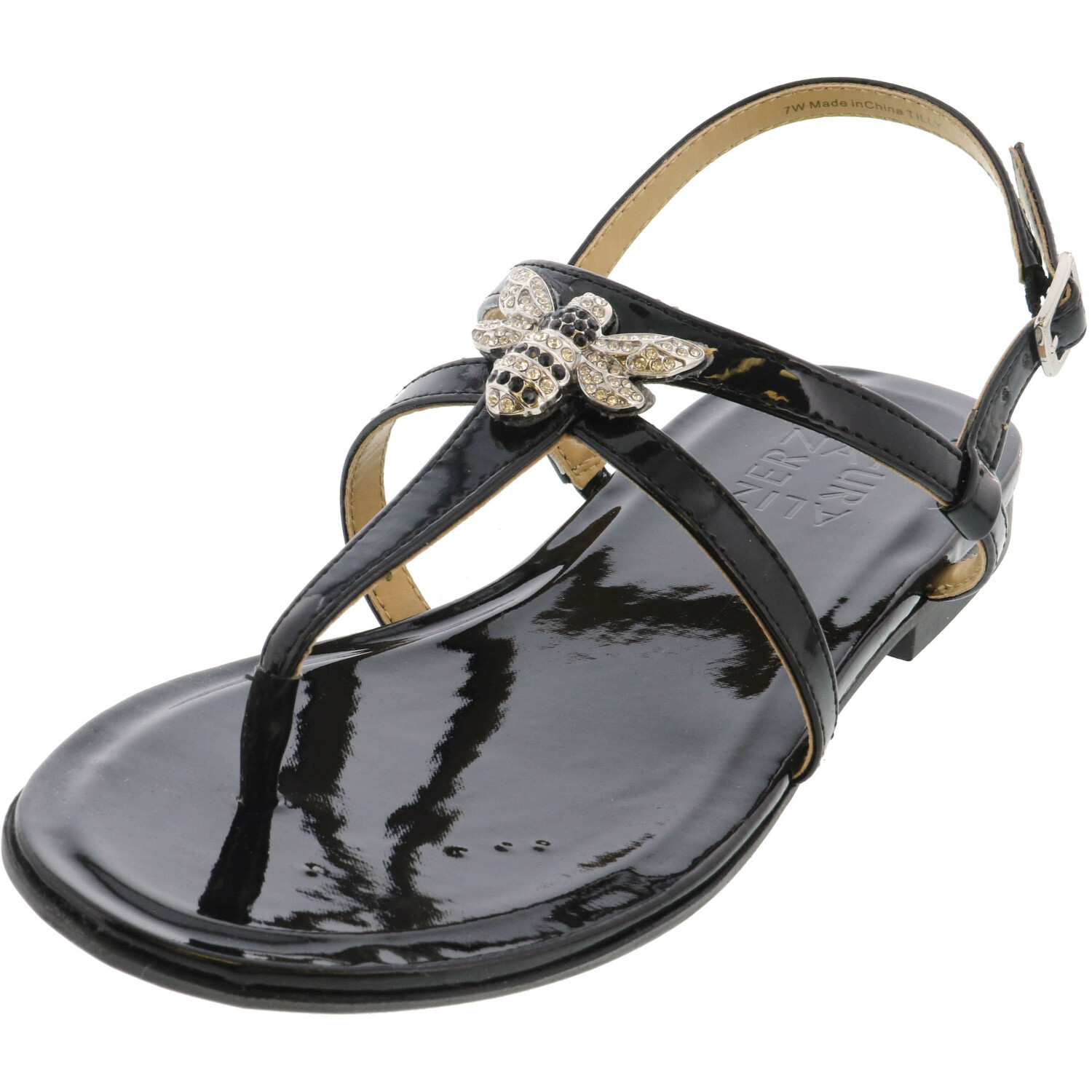 Naturalizer Women's Tilly Patent Black Ankle-High Sandal - 6.5W